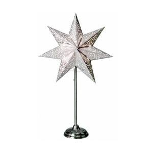 Świecąca gwiazda ze stojakiem Best Season Antique, biała, 55 cm
