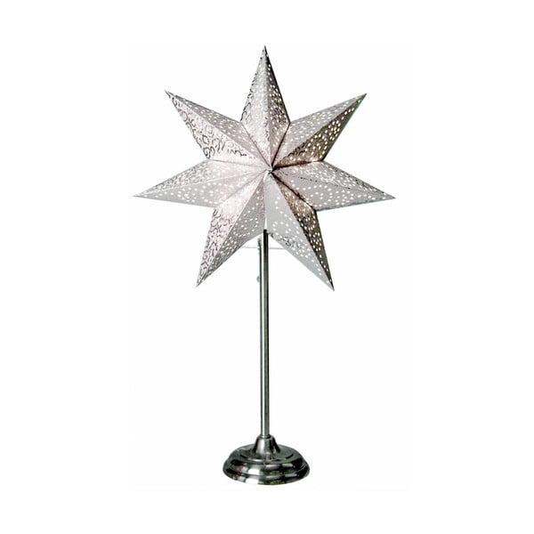 Świecąca gwiazda ze stojakiem Antique, biała, 55 cm