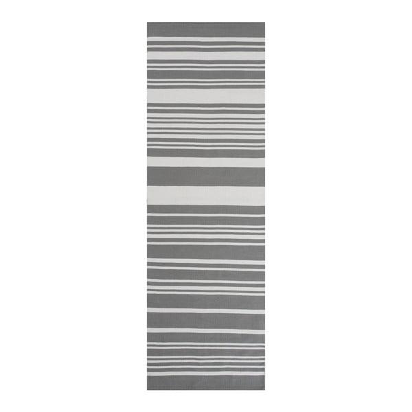 Szary dywan bawełniany Linie Design Glorious, 80x150 cm