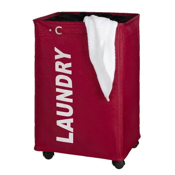 Czerwony kosz na pranie Wenko Quadro