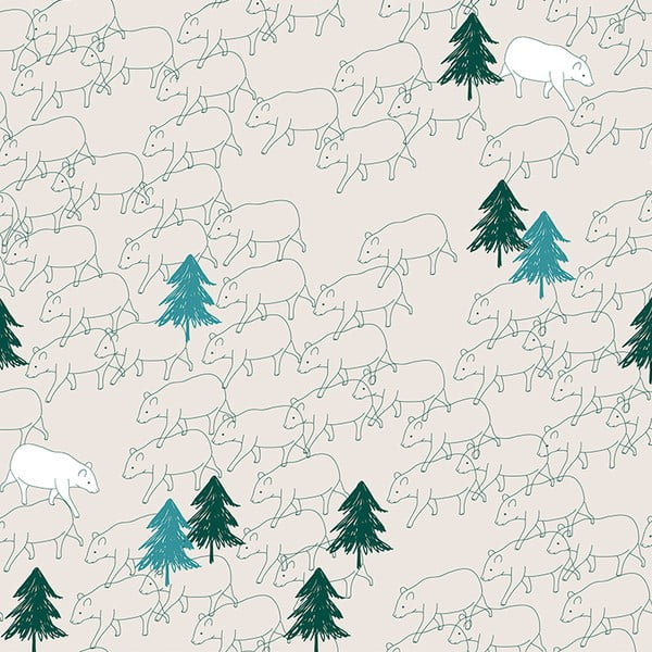 Tapeta samoprzylepna Bears, 100x10 cm
