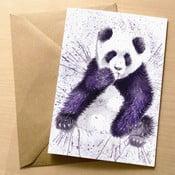 Kartka okolicznościowa Wraptious Splatter Panda
