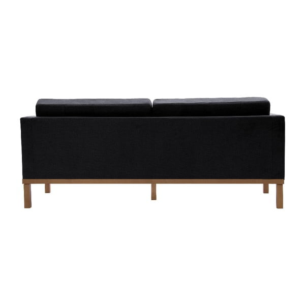 Sofa trzyosobowa VIVONITA Jonan Dark Grey, naturalne nogi
