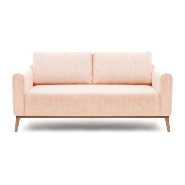 Różowa sofa 3-osobowa Vivonita Milton