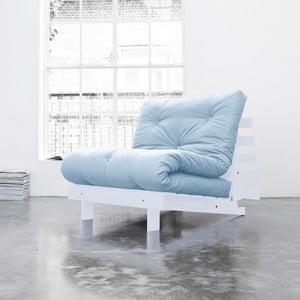 Fotel rozkładany Karup Roots Cool Gray/Celeste