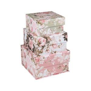 Zestaw 3 małych pudełek w kwiaty Tri-Coastal Design