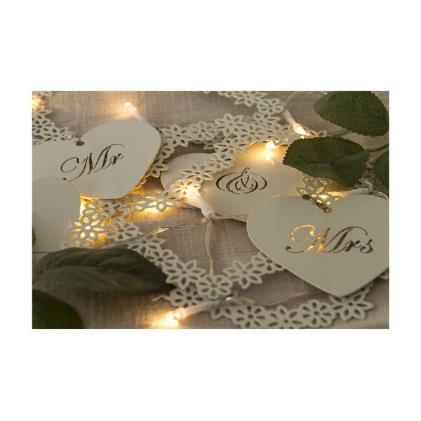 Girlanda ślubna z lampkami LED Mr. & Mrs, 1 m