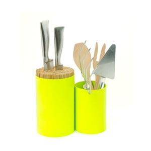 Stojak na noże i akcesoria kuchenne Knife&Spoon Lime