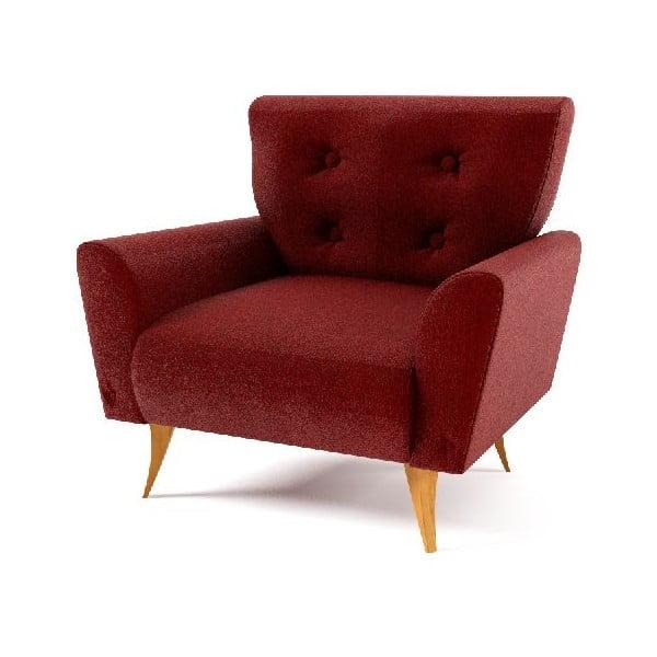 Fotel Lacoma, czerwony