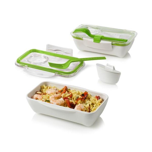 Pojemnik na lunch Bento, zielono-biały