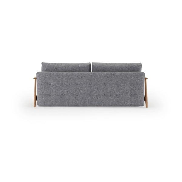 Szara sofa rozkładana Innovation Una Deluxe