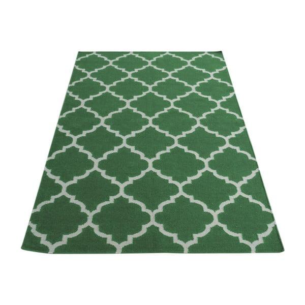 Zielony dywan wełniany Bakero Elizabeth, 180x120cm