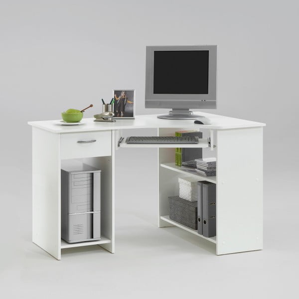 Białe biurko narożne 13Casa Felix