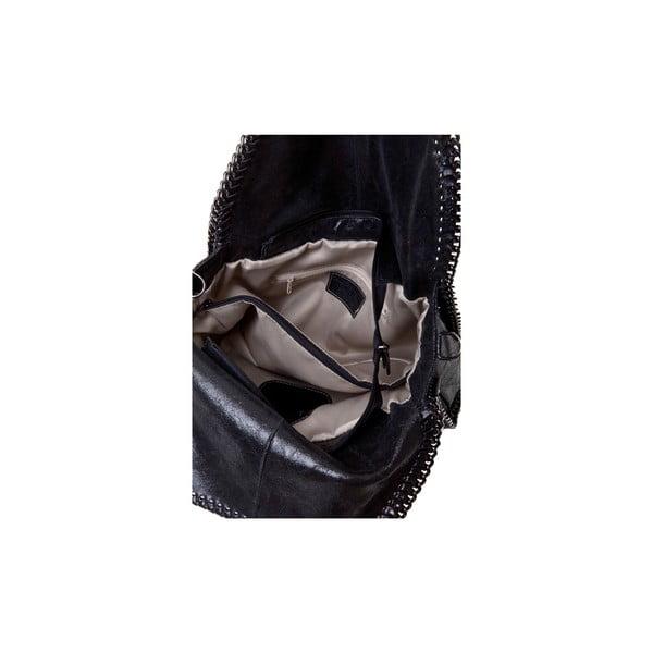 Czarna torebka skórzana Massimo Castelli Caterina