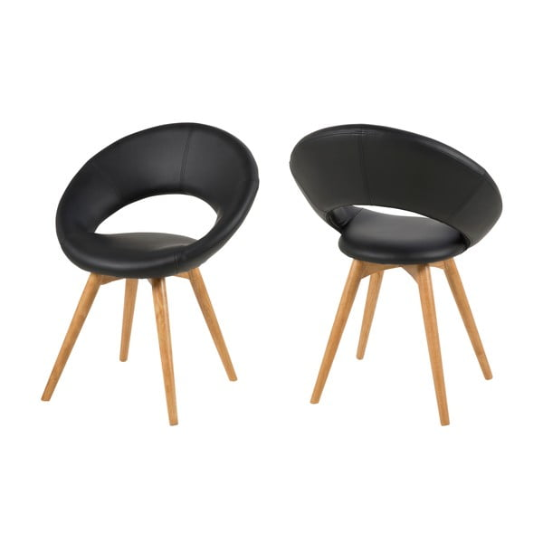 Krzesło do jadalni Plump, czarne