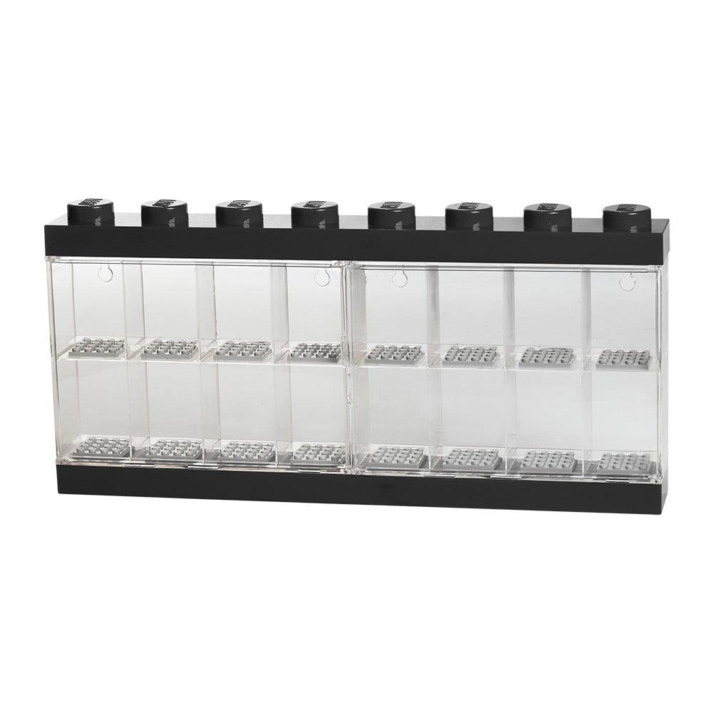 Czarna witryna kolekcjonerska na 16 figurek LEGO®