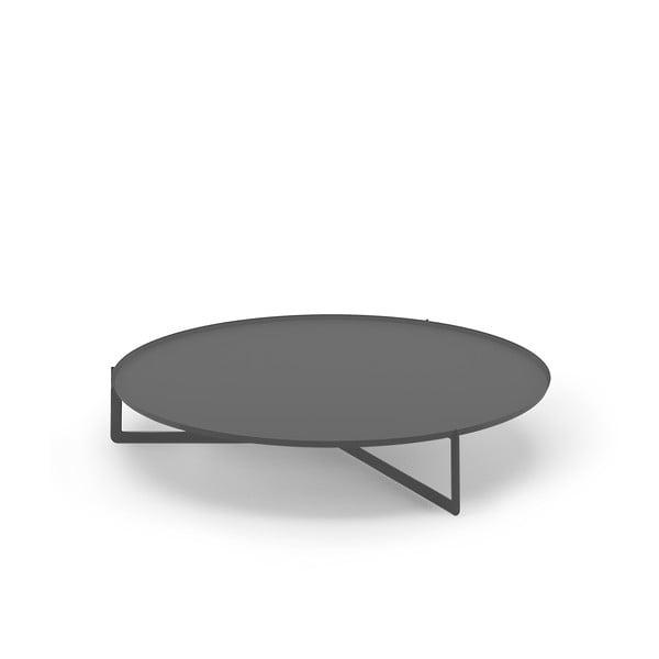 Grafitowy stolik MEME Design Round, Ø120cm