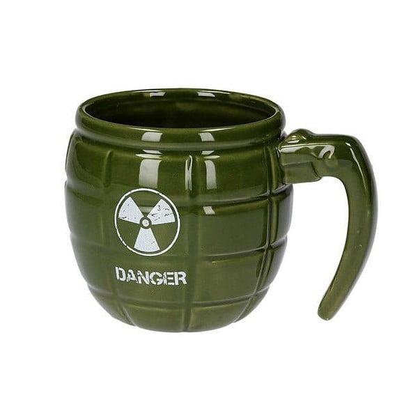 Kubek w kształcie granatu, zielony