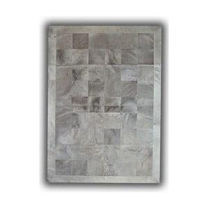 Dywan skórzany Light Grey, 140x200 cm