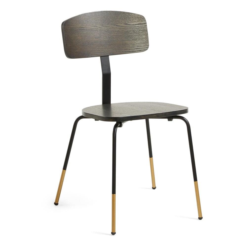 Czarne krzesło do jadalni La Forma Norfort