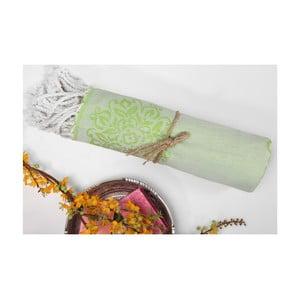 Ręcznik hammam Fauna, zielony