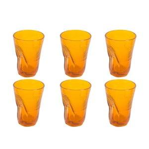 Zestaw 6 pomarańczowych szklanek Kaleidos, 340ml