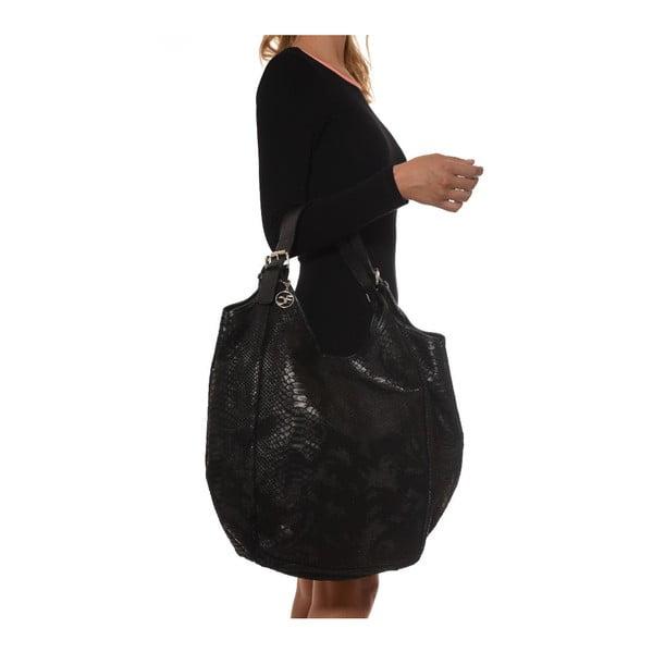 Skórzana torebka Carla Ferreri 887 Nero