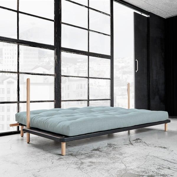 Sofa rozkładana Karup Point, Black/Raw Beech/Sky Blue