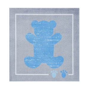 Niebiesko-szary dywan Hanse Home Kiddy Bear, 100 x 100 cm