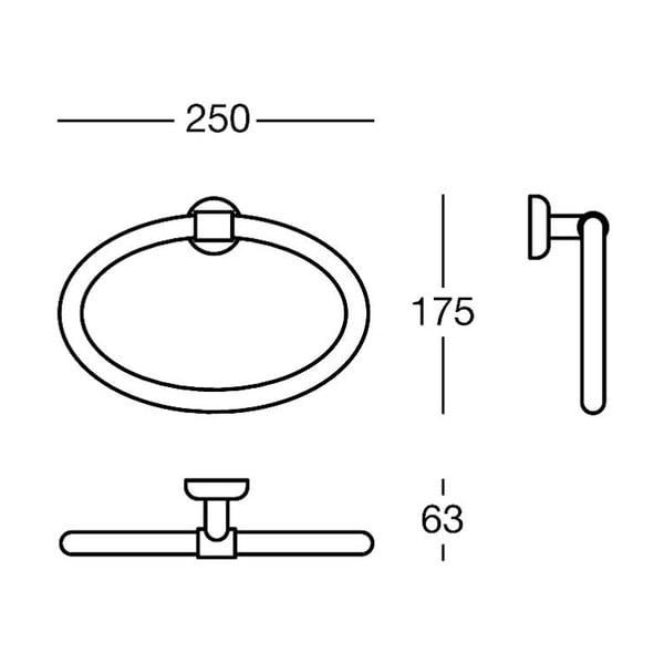 Uchwyt na ręczniki Polished Brass, 25x17,5x6 cm