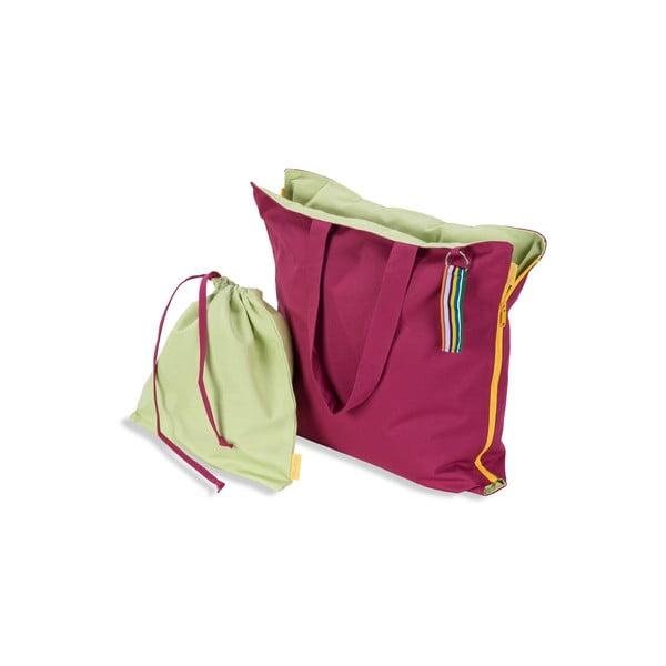 Przenośne siedzisko + torba Hhooboz 100x50 cm, różowe