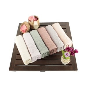 Zestaw 6 ręczników bawełnianych Sal, 30x50 cm