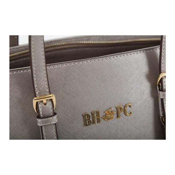 Torebka   w kolorze srebra ze skóry ekologicznej Beverly Hills Polo Club Anne