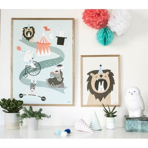 Plakat Michelle Carlslund Lion & Bunny, 30x40cm