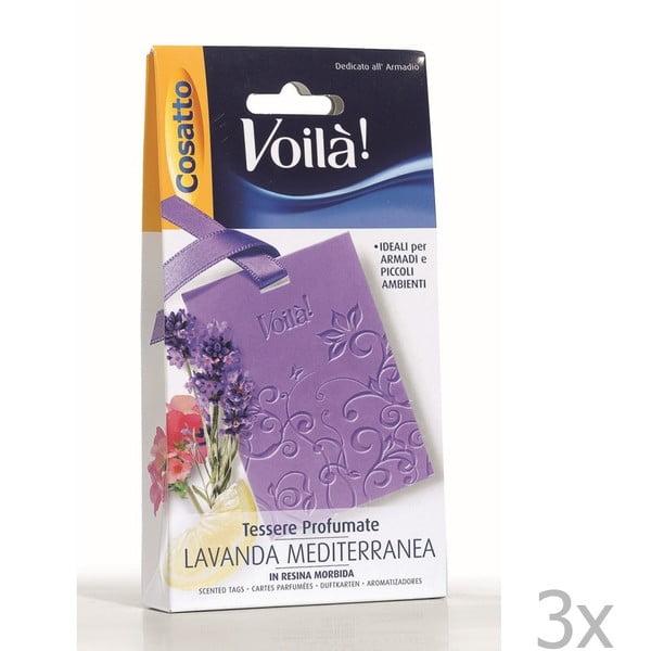 Zestaw 3 perfumowanych kart o zapachu lawendy Cosatto Perfume