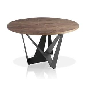 Czarny stół Ángel Cerda Manolo, Ø 150 cm