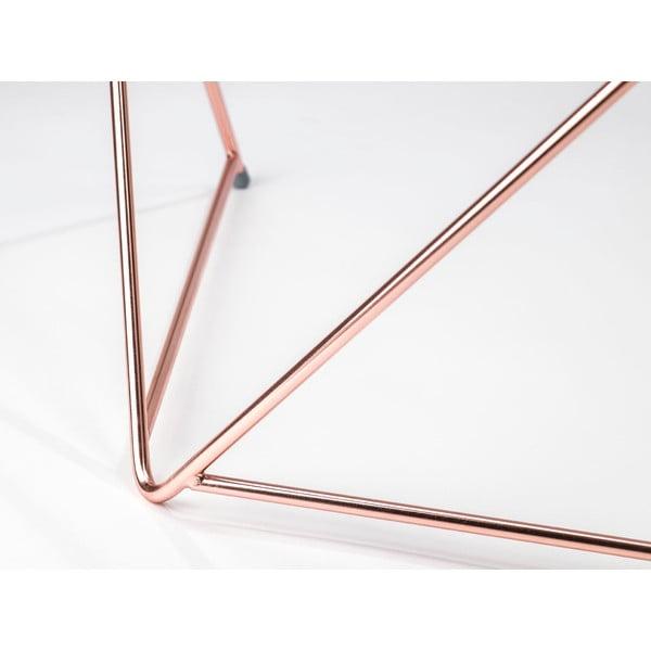 Dwie podkładki do stolika kawowego Diamond Coffee Copper