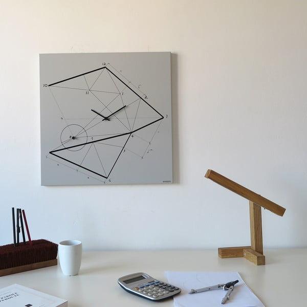 Zegar ścienny dESIGNoBJECT.it Time Lin,50x50cm