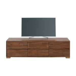 Szafka trzydrzwiowa pod TV z drewna akacjowego Støraa Surf