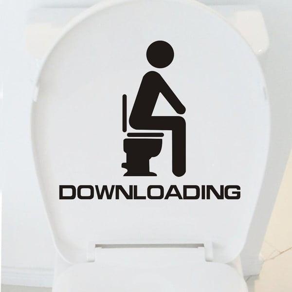 Naklejka dekoracyjna WC Downloading, 35x40 cm