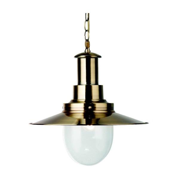 Lampa wisząca Searchlight Fisherman Shiny, złota