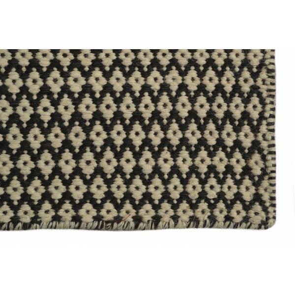 Ręcznie tkany kilim Brown and Beige Kilim, 105x154 cm