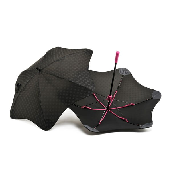 Super wytrzymały parasol Blunt Mini+ z odblaskowym pokryciem, różowy