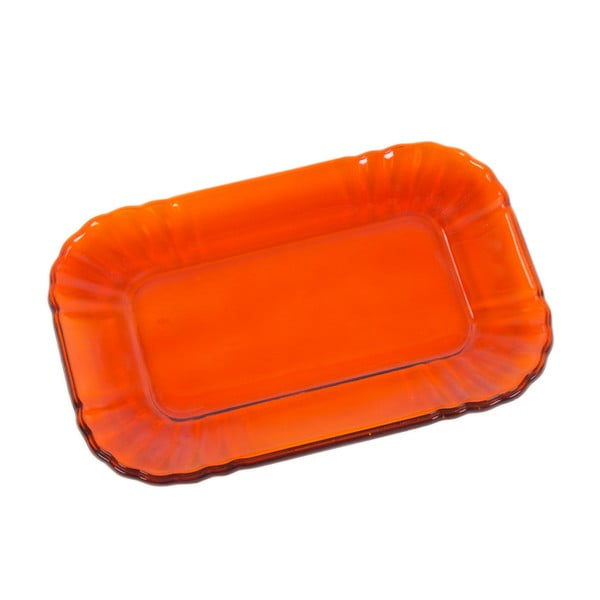 Szklany talerzyk Kaleidos, pomarańczowy