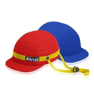Kask rowerowy Krust red/yellow/blue z zapasową czapką, rozmiar S