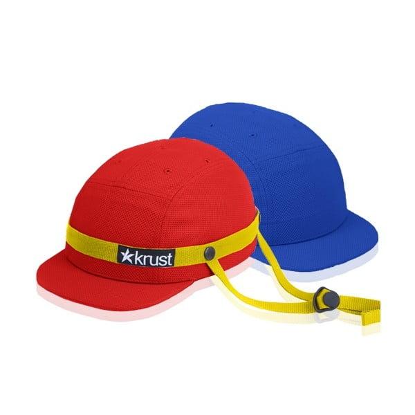 Kask rowerowy Krust red/yellow/blue z zapasową czapką, rozmiar M/L
