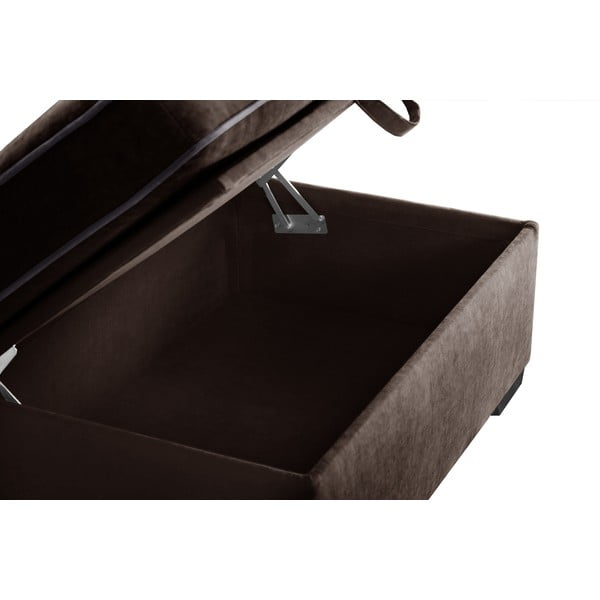 Taboret Jalouse Maison Serena, czekoladowy