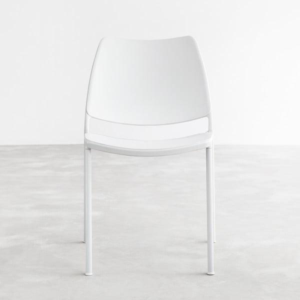 Krzesło Gas, białe, białe nogi