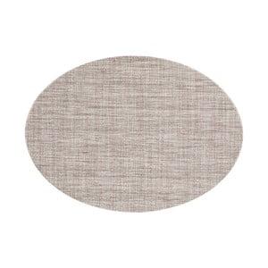 Brązowoszara mata stołowa Tiseco Home Studio Oval, 46x33 cm