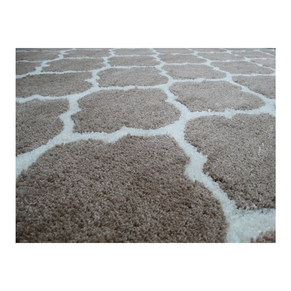 Szaro-brązowy dywan Smooth, 120x170cm